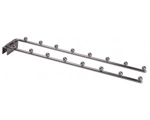 方管用八珠平掛鉤[雙] (Double Eight Bead Hanger used on the square iron tube)
